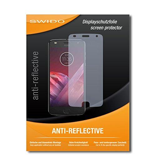 SWIDO Schutzfolie für Lenovo Moto Z2 Play [2 Stück] Anti-Reflex MATT Entspiegelnd, Hoher Härtegrad, Schutz vor Kratzer/Displayschutz, Displayschutzfolie, Panzerglas-Folie