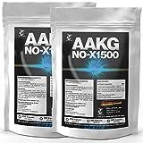 AAKG NOX-1500 | 1000 Kapseln (2x 500) a 500mg | Vorratspackung | Reines A-AKG Arginin-Alpha-Ketoglutarat | Nitro + Pre-Workout Booster | Für den Muskelaufbau und