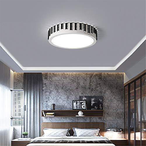 Moderne Led Deckenleuchte Zaun Schlafzimmer Wohnzimmer Küche Lichter Lampe Fernbedienung Ring Runde Leuchte Dimmbare Glanz, Schwarz-45cm-28w -
