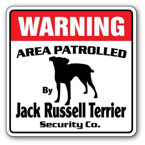 Jack Russell Terrier Sicherheit Schild  -  Funny Home Décor für Garagen, der Wohnzimmer, Schlafzimmer, Büros   signmission Bereich 'Armbanduhr