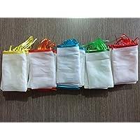 Crociedelizie, Stock 70 sacchetti bomboniere portaconfetti segnaposto in tela aida rifinitura in raso da ricamare a punto croce