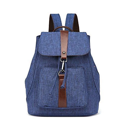 YIXUN Vintage Canvas Rucksack, echtes Leder Military Rucksack, Retro Laptop Rucksack für Schulreisen Wandern
