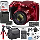 Best Selling Canon PowerShot SX420 IS (Red) with 42x Optical Zoom and Built-In Wi-Fi Digital Camera & 32GB SDHC + Flexible tripod +AC/DC Turbo travel charger + Extra Battery Along with a Deluxe Bundle be sure to Order Now