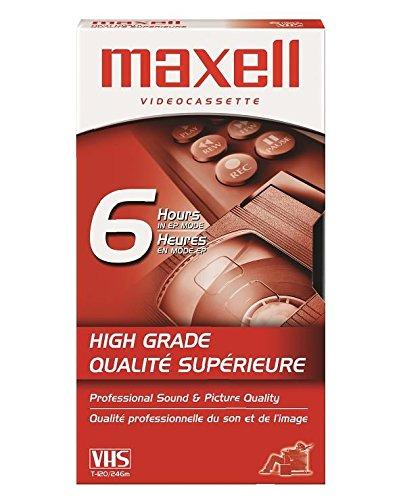 Premium Grade VHS Videotape Cassette, 6 Hours, Sold as 1 Each