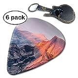 Majestic Natural Landscape Triptych Yosemite at Sunrise Celluloid Guitar Picks 6 Pack.71mm