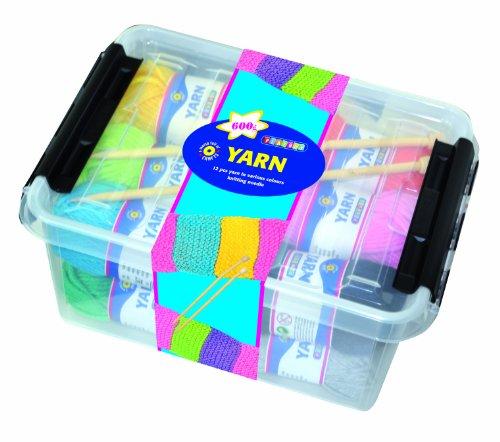 Playbox - Kit de Agujas y Lana para Tejer en Caja