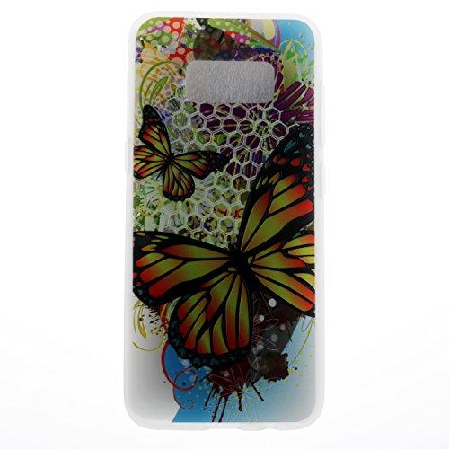 Ecoway TPU Funda para Samsung Galaxy S8 Plus, shell Milk Suave Parachoques Resistente a los arañazos Contraportada Funda de silicona Parachoques Carcasa Funda Bumper - Nabi