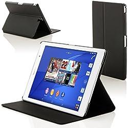 """Forefront Cases Sony Xperia Z3 Tablette Compact 8 Pouces 8"""" SGP611 Étui Housse Coque Smart Case Cover Stand - Ultra Mince Protection Complète Smart Auto Reveil Sommeil (Noir)"""