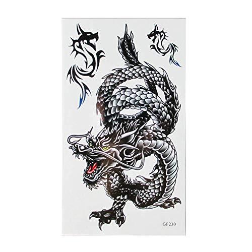 re Tattoos für Erwachsene Männer Frauen Kinder Drachen Fake Tattoo Aufkleber Mode Einweg Wasserdicht Body Art Aufkleber Langlebig und praktisch ()