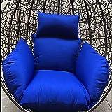 Cuscino Sedile Oscillante Sospeso,Addensato Cotone Giardino Vimini Cuscini per Sedie Grande Tappetino per Sedie A Uovo Appeso(Sedia Non Inclusa)-CC 134 * 125cm(53x49inch)