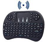 2.4g mini touchpad tastiera senza fili per la TV intelligente, PC, console, TV Android, Xbox, PS4, colore nero