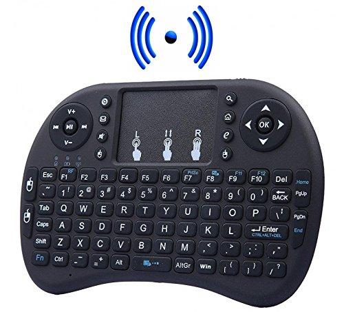 Mini Teclado Inalámbrico Touchpad 2.4g Ratón Inalámbrico para Smart Tv, Pc, Consola, Android Tv, Xbox, Ps3, Ps4, Raspberry Pi, Kodi, XBMC, IPTV (color negro)