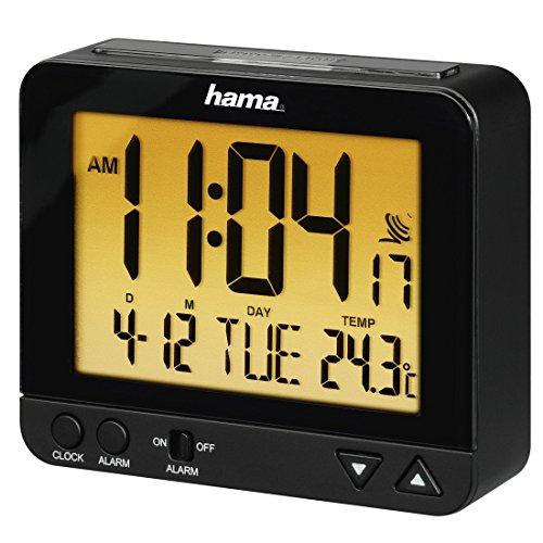 Hama Funk Wecker RC550 – sensorgesteuerte Nachtlichtfunktion, Schlummerfunktion, Temperatur- und Datumsanzeige - 8