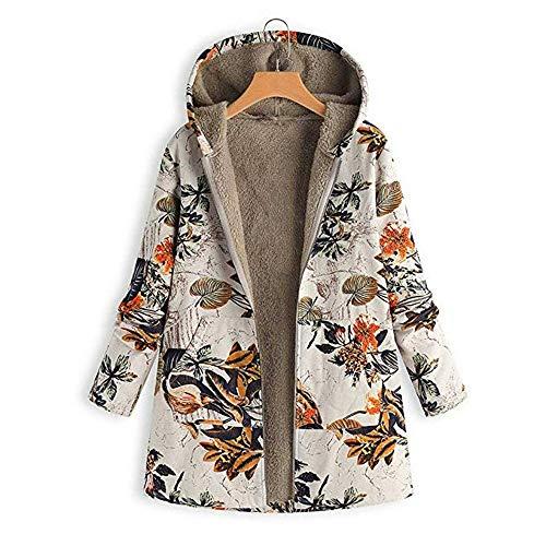 Morton PegfwaS Stilvolle Damen-Kapuzenjacke, warm Plus Baumwolle, lockerer Winterplüschmantel