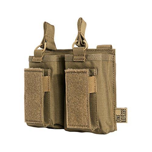 OneTigris Taktische MOLLE Magazintasche/Mag Pouch für M4/M16/AR/AK/G36/ Glock/M1911/ 92F |MEHRWEG Verpackung (Braun) -