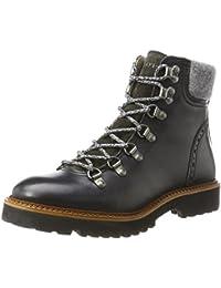 Marc O'Polo Damen Lace Flat Heel Bootie 70814236301108 Schnürstiefel, Schwarz (Black), 39 EU