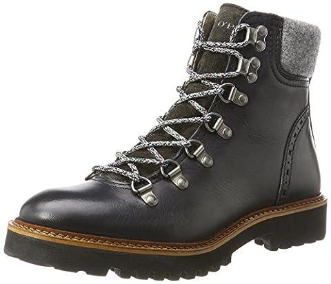 Marc O'Polo Flat Heel Bootie 70814236301108 Bottes à lacets, Schwarz (Black), 37 EU