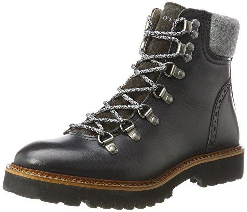 Marc O'Polo Damen Lace Flat Heel Bootie 70814236301108 Schlupfstiefel, Schwarz (Black), 37.5 EU (Schwarzer Bootie Heels)