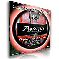 Adagio Professional 5-String Bass Guitar String Set 45-125