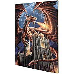 Pyramid International sw11244p Anne Stokes (Dragon 's Fury) Madera pared de arte, madera, multicolor, 40 x 2,5 x 59 cm