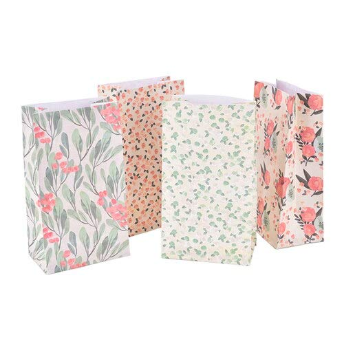 Gift Bags & Wrapping Supplies - 4pcs Set With 1 Sheet Stickers Japanese Style Flower Paper Gift Bag Festival Party Different - Colors Music Utensils Mouse Dark Dragon Unicornio Gender Candy E (Ideen Table Sweet)
