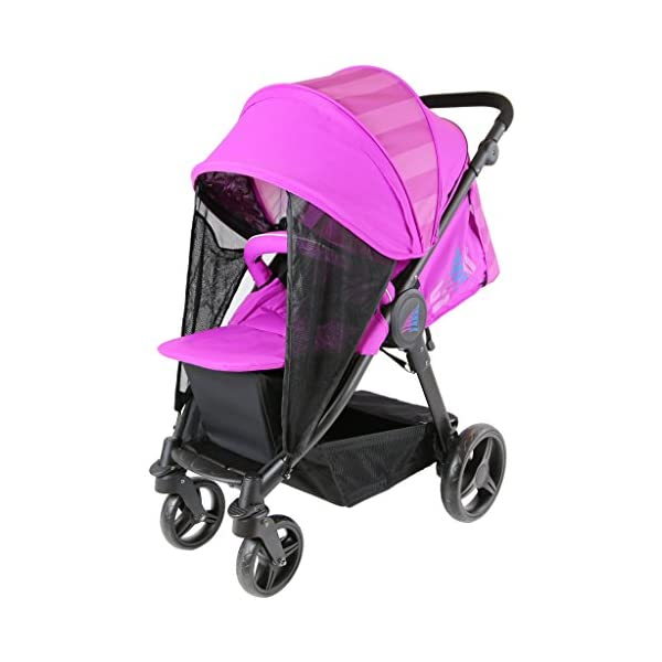 Sail Stroller - Plum Includes Bumper Bar Rain Cover Bootcover Sail Seamless Ride, High Built Quality, Amazing Features Media Viewing Tablet Pocket + One Hand Fold Away Extendable Hood, Provides Additional Shade And Privacy 3
