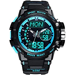 Multifunction Watches/Youth waterproof watch/With Luminescent sport watch-A