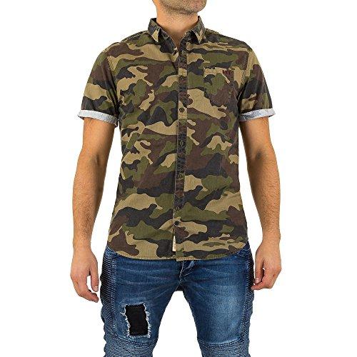 Camouflage Hemd Für Herren , Khaki 1 In Gr. L bei Ital-Design