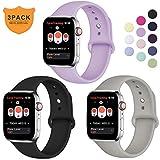 Hamile Armband Kompatibel für Apple Watch 38mm 40mm, Weiche Silikon Wasserdicht Ersatz...