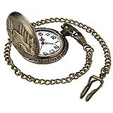 Leaders Dirigentes Retro Reloj de cuarzo reloj de bolsillo antiguo bronce steampunk la cadena con colgante de bolsillo regalo coche steampunk la cadena con colgante de bolsillo regalo papá 双
