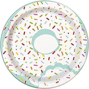 Unique Party 72584 - Platos de papel para fiestas, 18 cm, 8 unidades