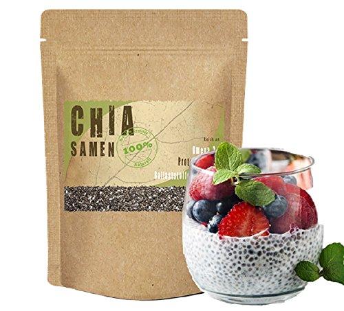 Chia Samen 1kg (1000g) *Chia Diät – Lebensmittel zum Abnehmen* 1 kg (1000 g) online kaufen Amazon Premium Qualität Deutschland DAS Superfood glutenfrei glutenfreie Lebensmittel Vegan vegane Lebensmittel Erfahrungen Chia 1kg (1000g) Chia 1 kg (1000 g) Chia Eiweiß Chia Joghurt Chia kaufen Chia Müsli Chia Omega 3 Chia Pudding Chia Protein Chia Seeds kaufen Chia topping gesunde Lebensmittel Diät Ballaststoffe Lebensmittel Omega 3 Lebensmittel gesunde Ernährung Lebensmittel veganes essen bestellen