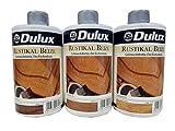 4x 500 ml Dulux Rustikal Beize Farbwahl 2 l, Farbe:Dunkelrustikal