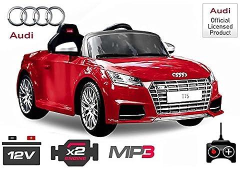 AUDI TTS Luxus Kinder Elektro Akku elektrisch Cabrio Sportwagen Spyder Cross Dirt Pit Bike 2x 30W 12V FERNSTEUERUNG (rot)