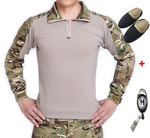 H mundo UE Taktisches caza militar Langarm Shirt con Pads Ellenbogen, color Multicámara, tamaño small