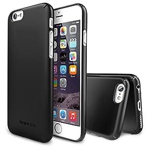 """iPhone 6 4.7"""" Coque - Ringke SLIM ***HAUT ET EN BAS DE COUVERTURE*** [BLACK][Protecteur D'écran Gratuit] Super Slim Léger Tout Autour de la Protection Double Coated Étui Rigide Housse pour Apple iPhone 6 4.7"""" Inch - Eco Paquete"""