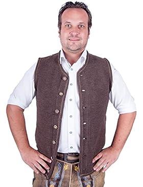 Almwerk Herren Trachten Strick Weste Modell Xaver in braun und anthrazit