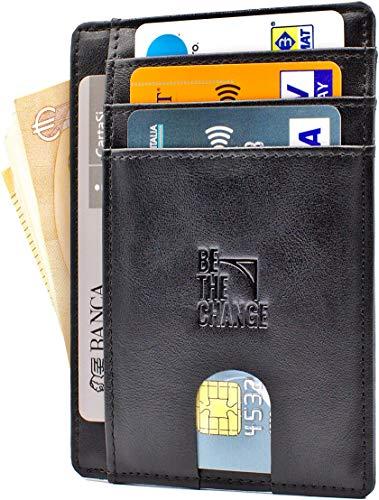 d0434d66a Portafoglio Uomo Piccolo Sottile - Mini Porta Carte Credito Uomo Pelle con  Protezione RFID e Tasca