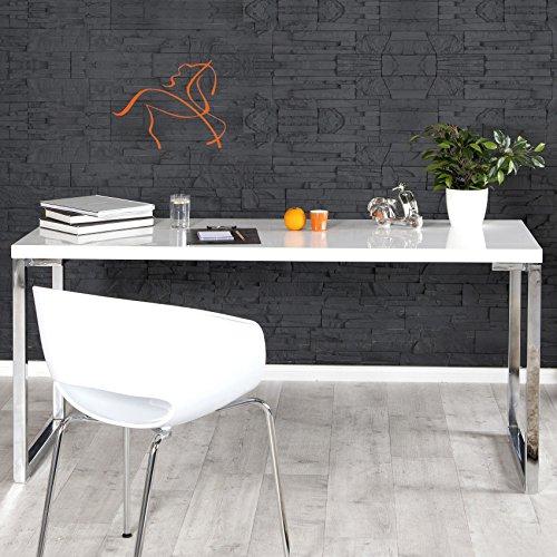 CAGÜ - DESIGN SCHREIBTISCH [OXFORD] WEISS HOCHGLANZ 160cm, NEU! - Kategorie Holz Bürostühle
