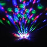 amzdeal® 2 x E27 3W RGB ampoule de scène multi coloré tournant pour Noël soirée bar club