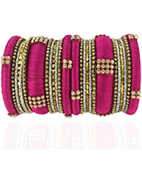 YouBella Traditional Bridal Jewellery Thread Style Chura /Chuda Bangles Jewellery For Women And Girls