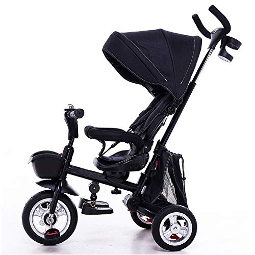 GSDZSY Children Tricycle Kids Stroller 4 In1,with Removable Push Handle Bar,Rotating Seat,Suitable For 1-6 Year Old,B  GSDZSY