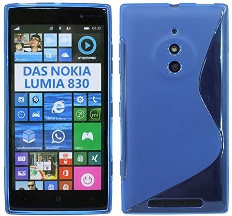 Nokia Lumia 830 Silikon Hülle Schutzhülle Case Cover Gel in Blau @ Energmix