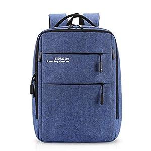 FANDARE Casual Hombres Mochilas Escolares 12.9 Pulgadas Laptop Mochila con USB Agujero del Auricular Bolso de Escuela Outdoor Viajes Rucksack Impermeable Poliéster Azul