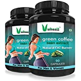 Vubasil Green Coffee Capsules 800mg 50 Percent CGA Weight Management Product (90 Capsules, Pack of 2)