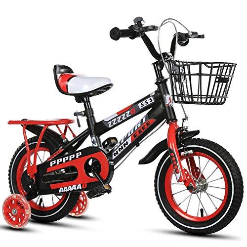 YIHANGG Fahrrad Kinder 2~10 Jahre Alt Jungen Und Mädchen 12-14-16-18 Zoll Kinder Fahrräder Einstellbar Leicht Training Räder,Red-20Inches - Stahl 17-zoll-rad