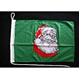 Motorrad-/Bootsflagge 25x40cm: Weihnachtsmann