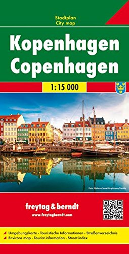 Copenhagen City Map por Freytag & Berndt