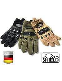 "'Tactical de carbono ""Touch Uso Guante de Shield, verde oliva"