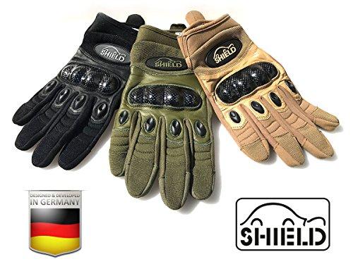 """TACTICAL-CARBON """"touch"""" Einsatzhandschuh von SHIELD (SCHWARZ, M)"""